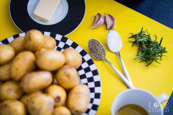 Zutaten - Rosmarinkartoffeln - lovestoned.de