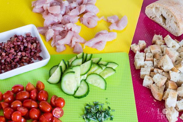 Zutaten - Caesar Salad mit Senf-Dressing - lovestoned.de